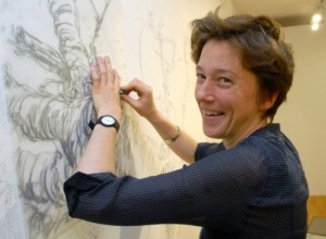 Jenny Purrett  Artist Drawing