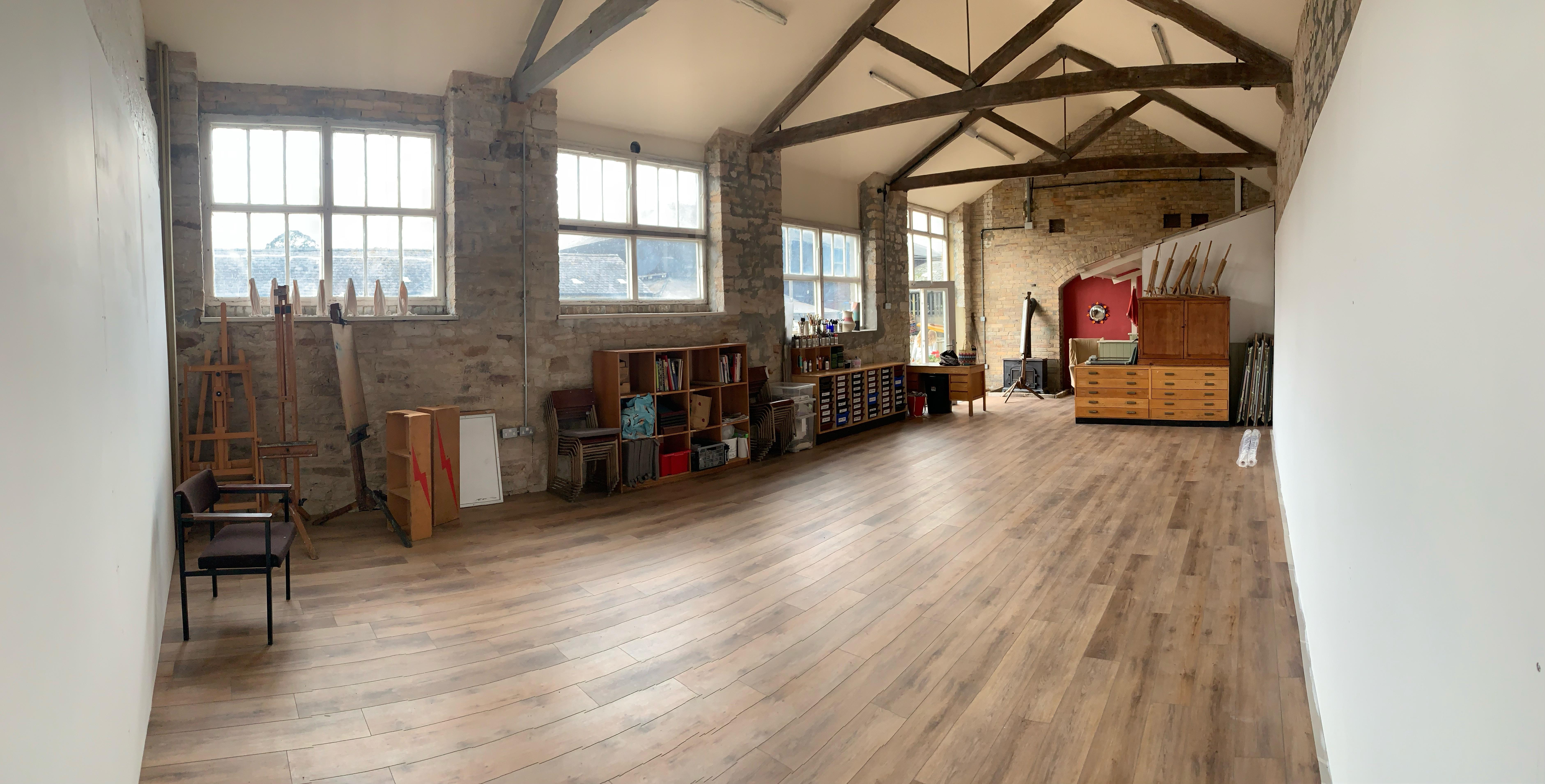 LOOK! my new teaching studio at Wheelbirks
